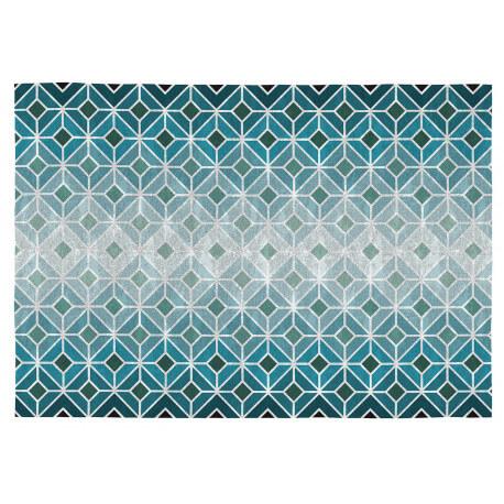 Tapis géométrique design pour salon plat Inga