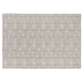 Tapis plat rectangle en coton beige Kalahari
