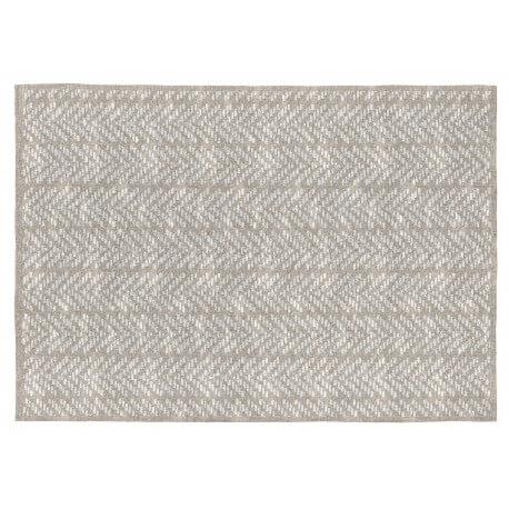 Tapis plat rectangle en coton beige Kalahari