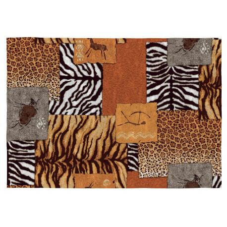 Tapis Ethnique Safari Colore Plat En Coton Kampala
