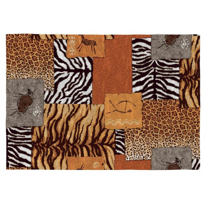 tapis ethnique safari color plat en coton kampala. Black Bedroom Furniture Sets. Home Design Ideas