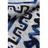 Tapis design en coton bleu plat Kinsasa