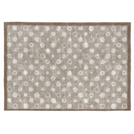 Tapis gris rectangle plat intérieur design Nagini