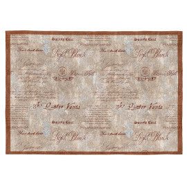Tapis écriture beige plat rectangle Neisha