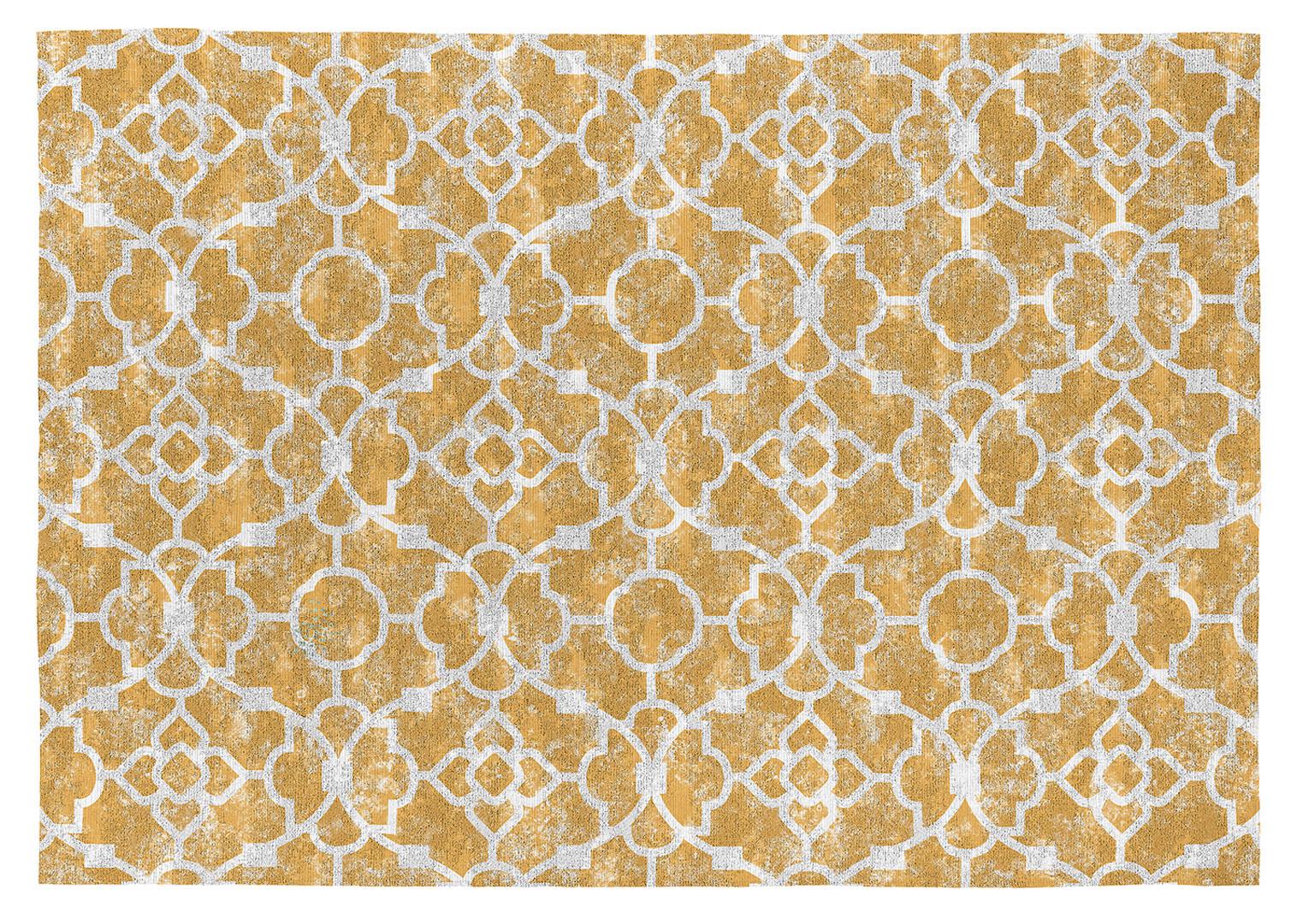 Tapis de salon plat design en coton Nicosia