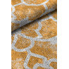 Tapis jaune de salon plat design en coton Nicosia