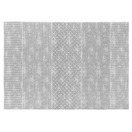 Tapis en coton plat gris intérieur moderne Nilo