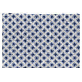 Tapis Vivabita plat bleu en coton scandinave Ontario