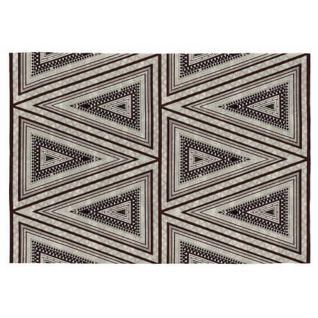 Tapis géométrique design plat Vivabita noir et gris Orvar