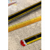 Tapis enfant beige plat en coton rectangle Pencils