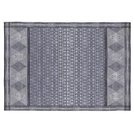 Tapis bleu design géométrique plat Steinar