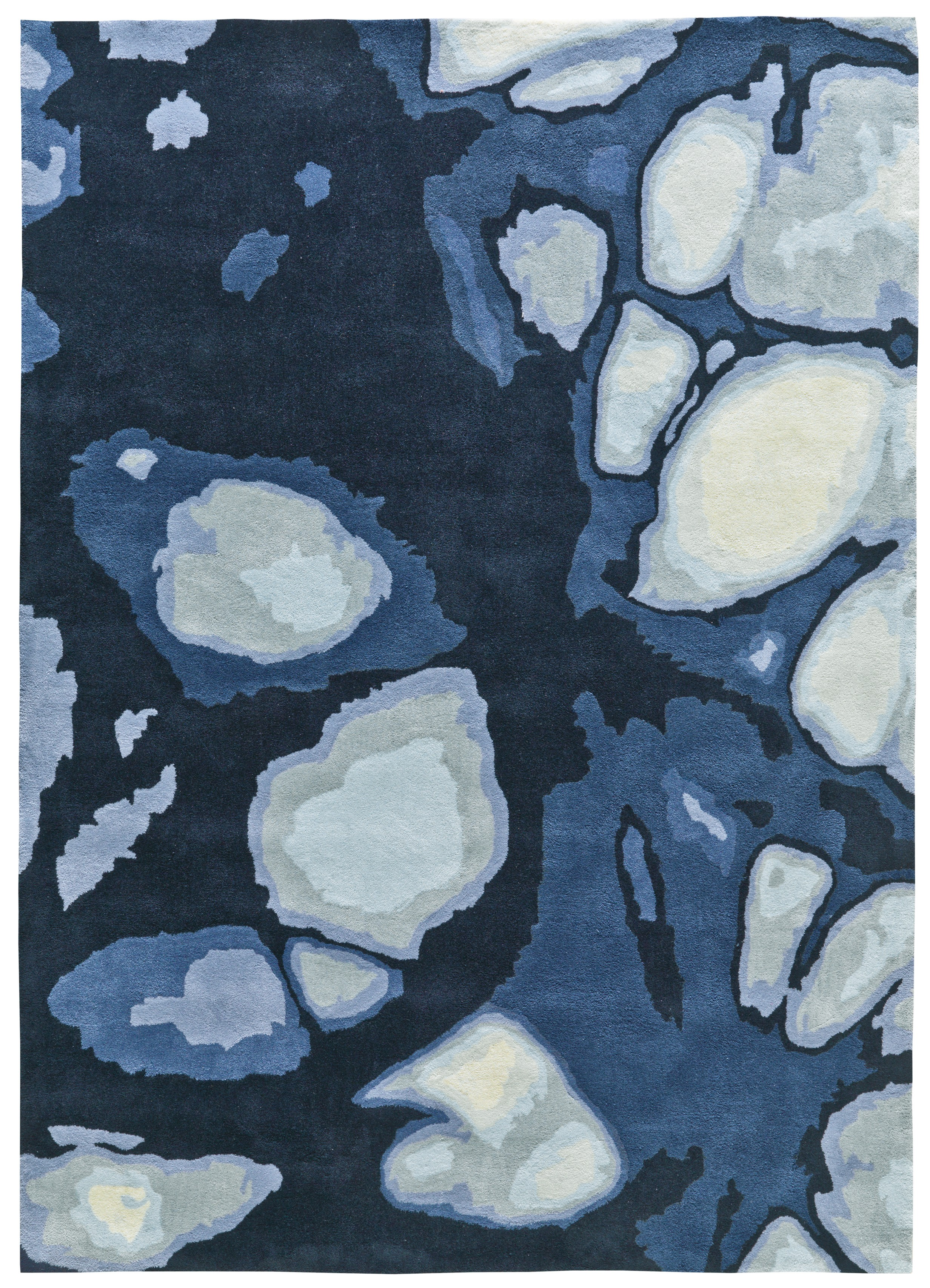Tapis bleu Batik Touch II par Arte Espina