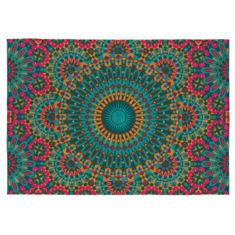 Tapis Vivabita multicolore plat de salon Tigris