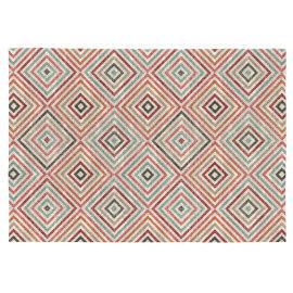 Tapis multicolore scandinave géométrique plat Viena