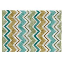 Tapis design multicolore plat en coton Eyra