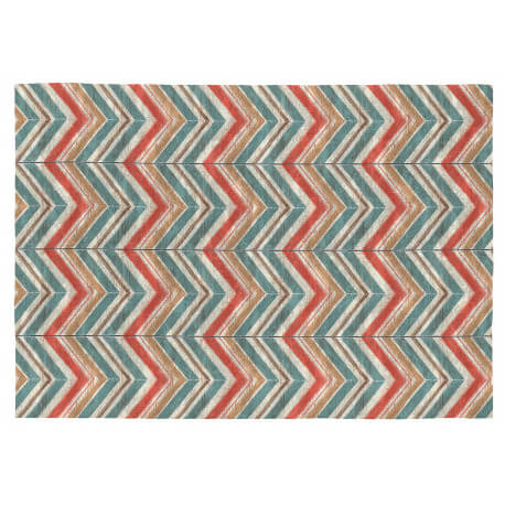Tapis moderne plat multicolore coton Astrid