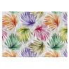 Tapis floral plat design multicolore coton Iliana