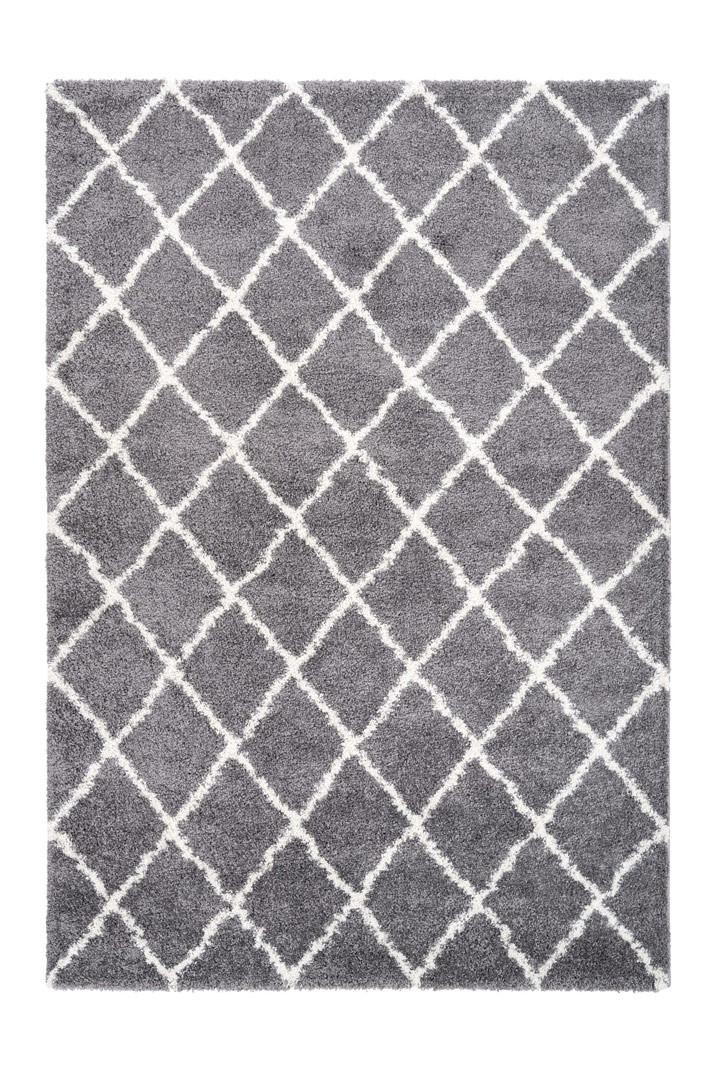 Tapis scandinave shaggy rectangle Leon