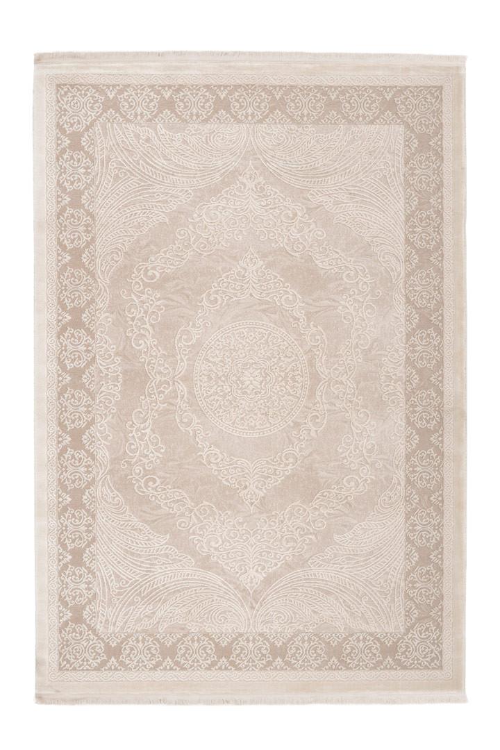 Tapis avec franges baroque doux Safira