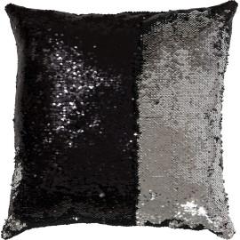 Coussin carré avec paillette en polyester Bling Bling