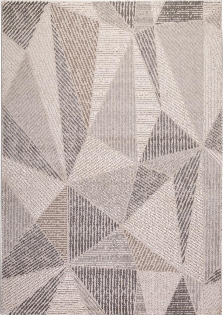 Tapis scandinave en polypropylène géométrique Svaneke