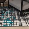 Tapis doux rayé design intérieur Clarina
