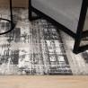 Tapis rayé doux vintage en polypropylène Caracas