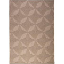 Tapis sable en laine effet 3D géométrique Penly