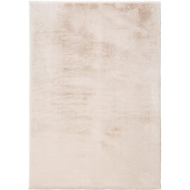 Tapis effet peau de lapin doux en polyester shaggy Melvina