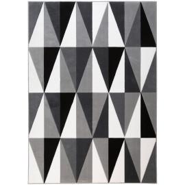 Tapis scandinave à courtes mèches géométrique Mesh