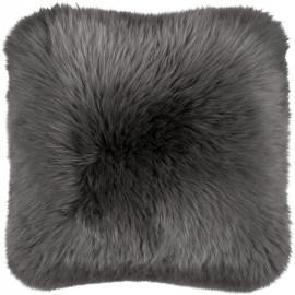 Coussin à poils longs en laine naturelle Gayal
