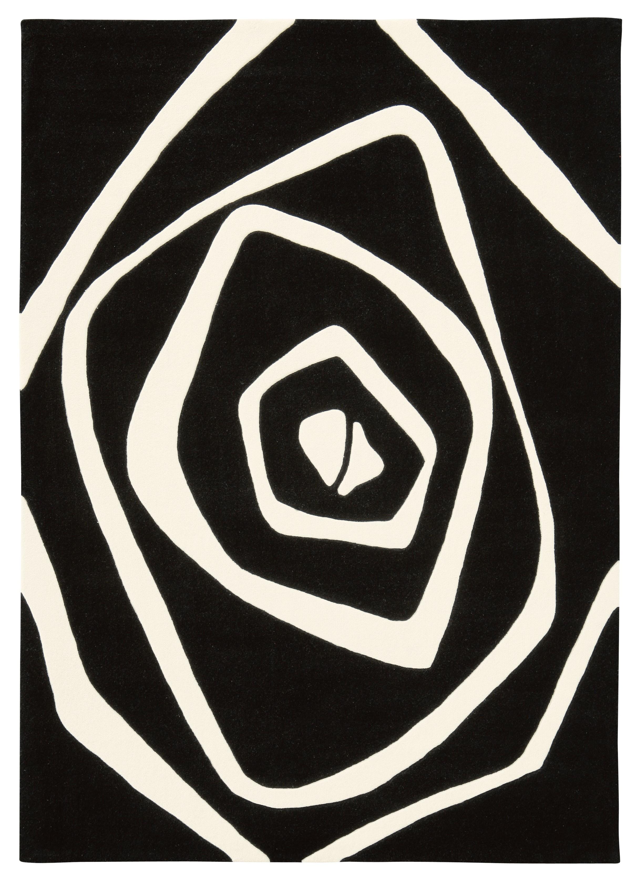Tapis noir I Optical Art par Arte Espina