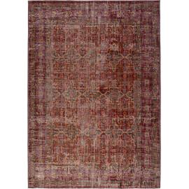 Tapis plat intérieur et extérieur rouge vintage Chieko