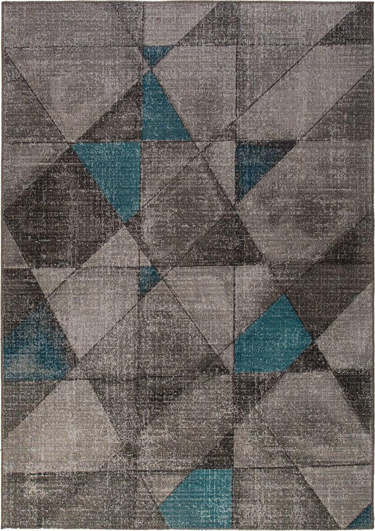 Tapis scandinave intérieur et extérieur gris plat Minden