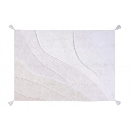 Tapis avec pompoms lavable en machine gris Cotton Shades Lorena Canals