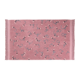 Tapis avec franges floral English Garden Lorena Canals