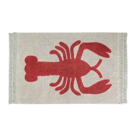 Tapis avec franges beige design Lobster Lorena Canals