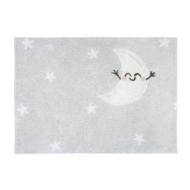 Tapis lavable en machine enfant gris Happy Moon Lorena Canals