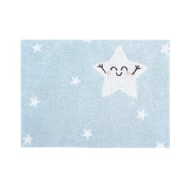 Tapis lavable en machine enfant gris Happy Star Lorena Canals
