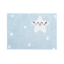 Tapis lavable en machine enfant gris Happy Star Lorena Canals