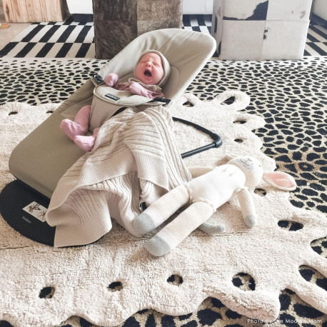Tapis enfant lavable en machine doux Lace Lorena Canals