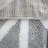 Tapis de salon scandinave à courtes mèches géométrique Mohit