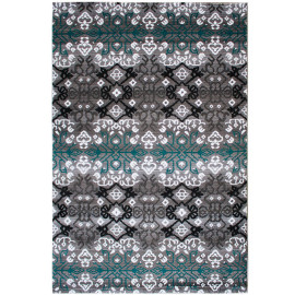 Tapis baroque rectangle en polypropylène Jefuzan