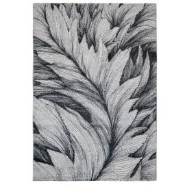 Tapis floral gris à courtes mèches Burling
