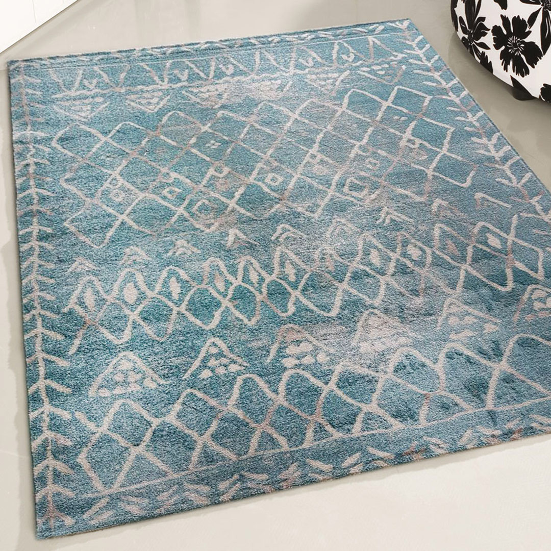 Tapis ethnique rectangle berbère Rothes