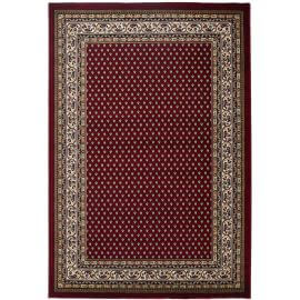 Tapis d'orient rouge à mèches courtes rectangle Kamya