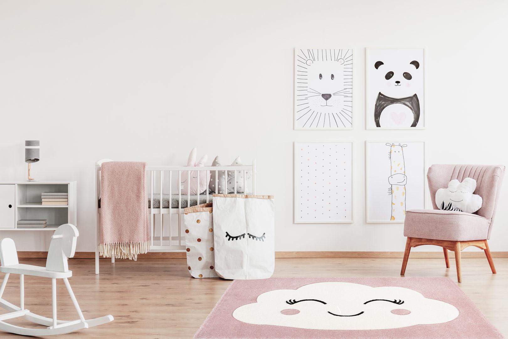 tapis de chambre pour fille rose noa. Black Bedroom Furniture Sets. Home Design Ideas
