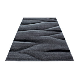 Tapis contemporain effet vague rectangle Rabisco