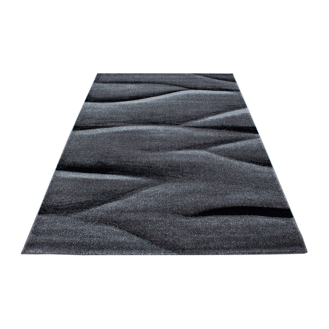 Tapis contemporain effet vague rectangle Rabisco
