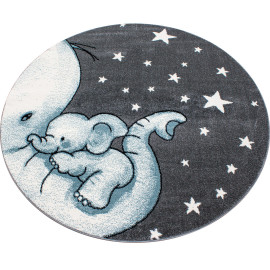 Tapis rond pour chambre enfant éléphant Zoupiou